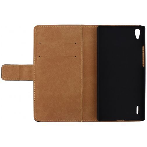 Productafbeelding van de Mobilize Slim Wallet Book Case Black Huawei Ascend P7