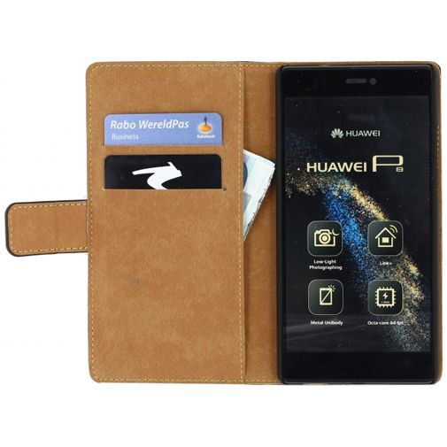 Productafbeelding van de Mobilize Slim Wallet Book Case Black Huawei P8