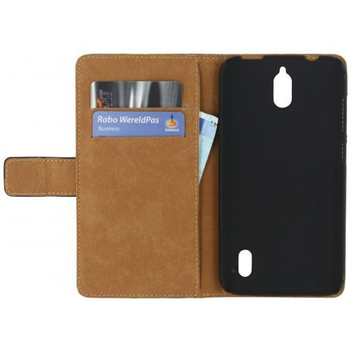 Productafbeelding van de Mobilize Slim Wallet Book Case Black Huawei Y625
