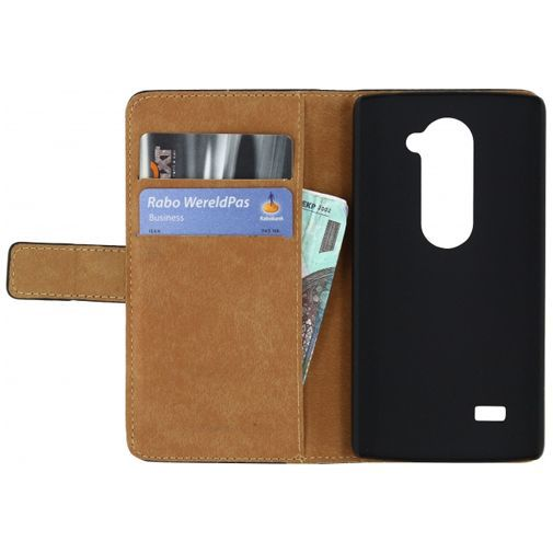 Productafbeelding van de Mobilize Slim Wallet Book Case Black LG Leon
