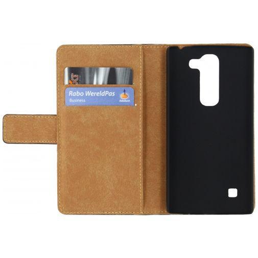 Productafbeelding van de Mobilize Slim Wallet Book Case Black LG Spirit