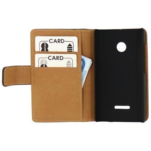Productafbeelding van de Mobilize Slim Wallet Book Case Black Microsoft Lumia 435