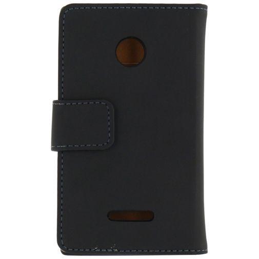 Productafbeelding van de Mobilize Slim Wallet Book Case Black Microsoft Lumia 532