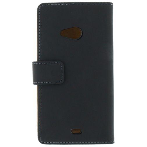 Productafbeelding van de Mobilize Slim Wallet Book Case Black Microsoft Lumia 535