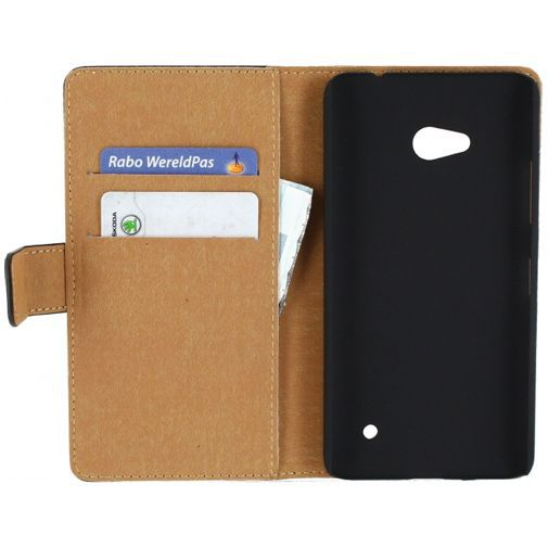 Productafbeelding van de Mobilize Slim Wallet Book Case Black Microsoft Lumia 640 4G