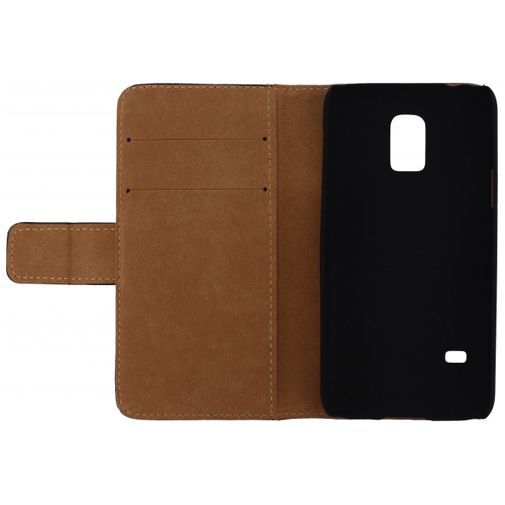 Productafbeelding van de Mobilize Slim Wallet Book Case Black Samsung Galaxy S5 Mini