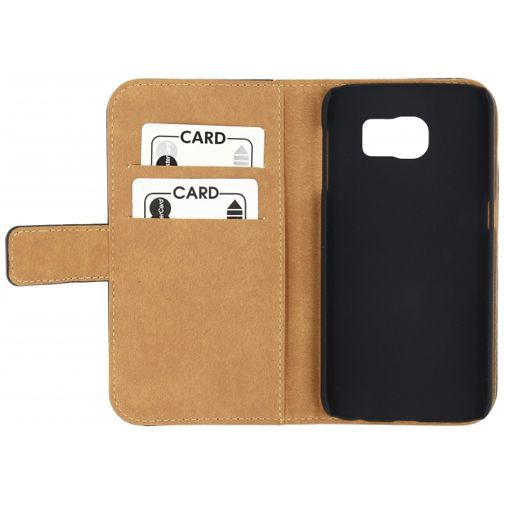 Productafbeelding van de Mobilize Slim Wallet Book Case Black Samsung Galaxy S6