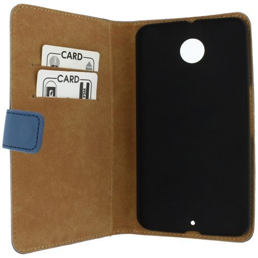 Productafbeelding van de Mobilize Slim Wallet Book Case Blue Motorola Nexus 6