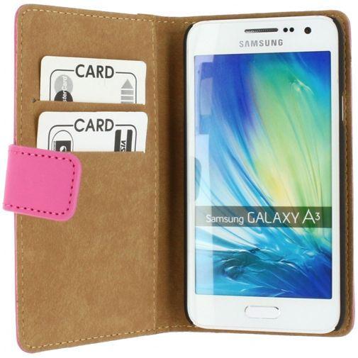 Productafbeelding van de Mobilize Slim Wallet Book Case Fuchsia Samsung Galaxy A3