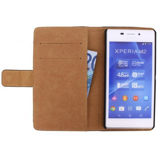 Mobilize Slim Wallet Book Case Sony Xperia M2 Black
