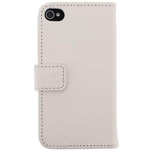 Productafbeelding van de Mobilize Slim Wallet Book Case White Apple iPhone 4/4S