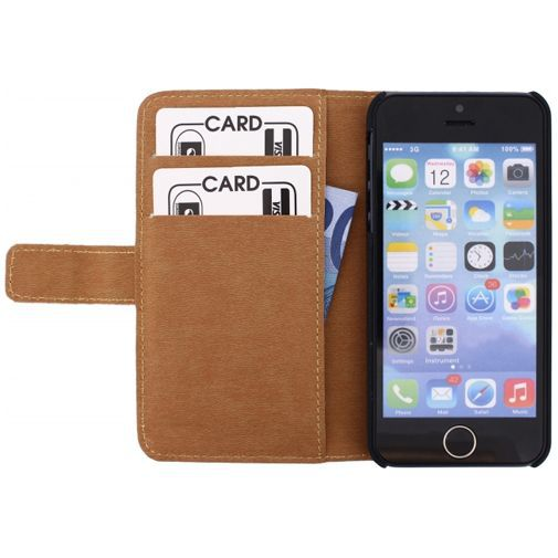 Productafbeelding van de Mobilize Slim Wallet Book Case White Apple iPhone 5/5S/SE