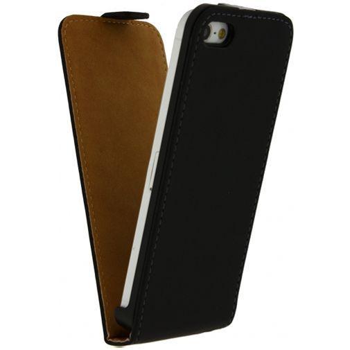 Produktimage des Mobilize Ultra Slim Flip Case Schwarz Apple iPhone 5/5S/SE