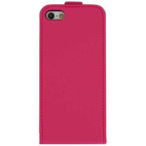 Productafbeelding van de Mobilize Ultra Slim Flip Case Fuchsia Apple iPhone 5/5S/SE