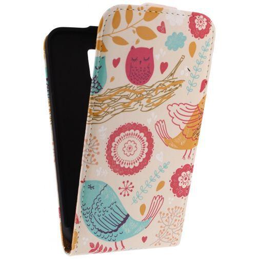 Productafbeelding van de Mobilize Ultra Slim Flip Case Birds Samsung Galaxy S5/S5 Plus/S5 Neo