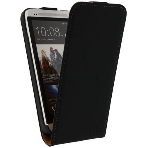 Productafbeelding van de Mobilize Ultra Slim Flip Case Black HTC One