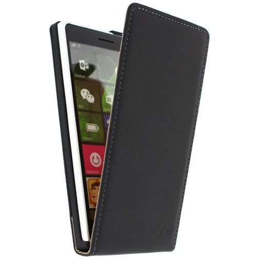 Productafbeelding van de Mobilize Ultra Slim Flip Case Black Lumia 830