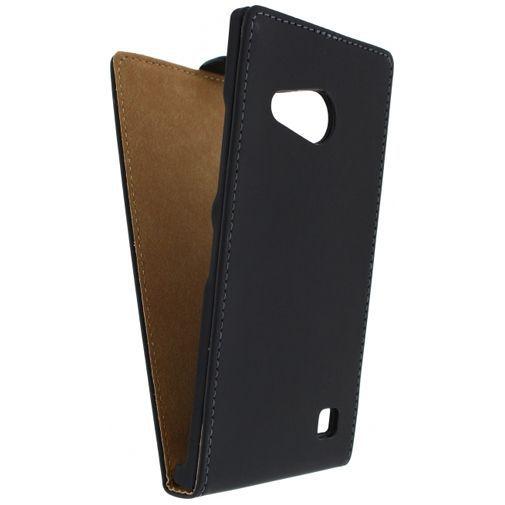 Productafbeelding van de Mobilize Ultra Slim Flip Case Black Nokia Lumia 735