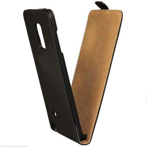 Productafbeelding van de Mobilize Ultra Slim Flip Case Black Samsung Galaxy Note Edge