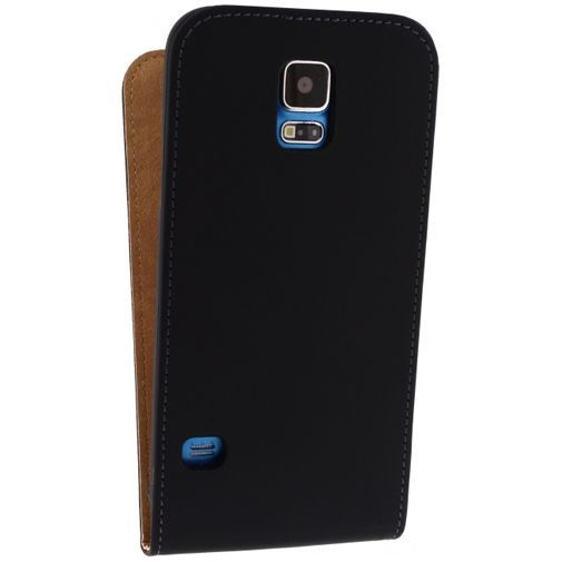 Productafbeelding van de Mobilize Ultra Slim Flip Case Black Samsung Galaxy S5/S5 Plus/S5 Neo