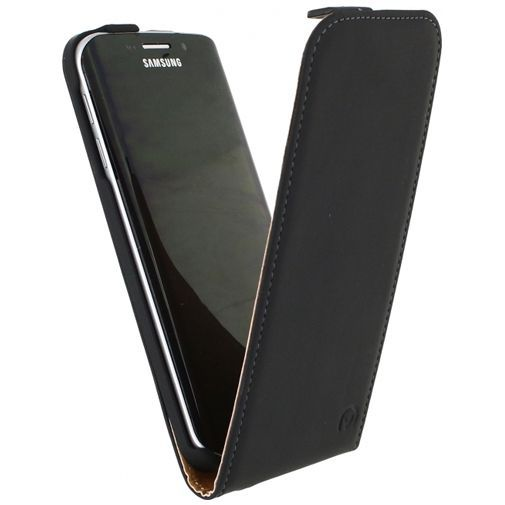 Productafbeelding van de Mobilize Ultra Slim Flip Case Black Samsung Galaxy S6 Edge