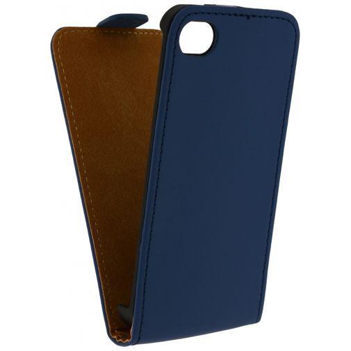 Productafbeelding van de Mobilize Ultra Slim Flip Case Blue Apple iPhone 4/4S
