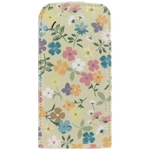 Productafbeelding van de Mobilize Ultra Slim Flip Case Flowers Samsung Galaxy S5/S5 Plus/S5 Neo