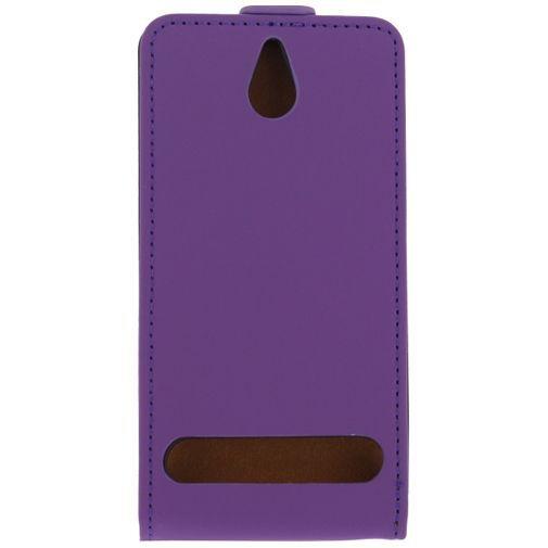 Productafbeelding van de Mobilize Ultra Slim Flip Case Sony Xperia E1 Purple