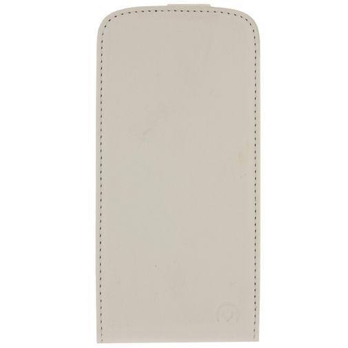 Productafbeelding van de Mobilize Ultra Slim Flip Case White HTC Desire 500