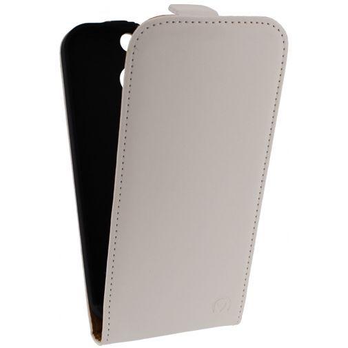 Productafbeelding van de Mobilize Ultra Slim Flip Case White HTC One M8/M8s