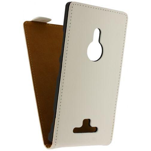 Productafbeelding van de Mobilize Ultra Slim Flip Case White Nokia Lumia 925