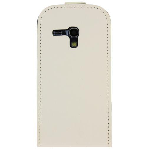 Productafbeelding van de Mobilize Ultra Slim Flip Case White Samsung Galaxy S3 Mini (VE)
