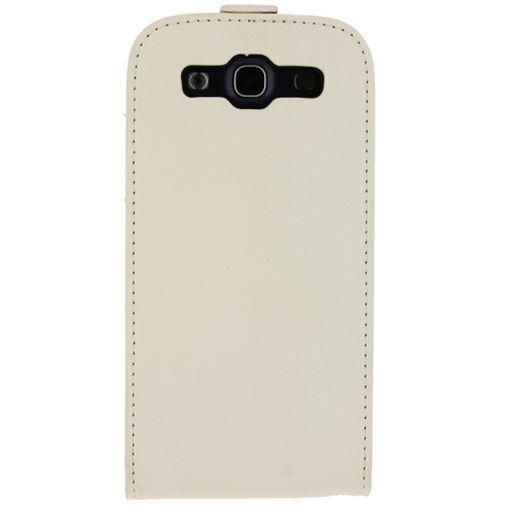Productafbeelding van de Mobilize Ultra Slim Flip Case White Samsung Galaxy S3 (Neo)