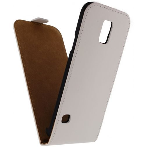 Productafbeelding van de Mobilize Ultra Slim Flip Case White Samsung Galaxy S5/S5 Plus/S5 Neo