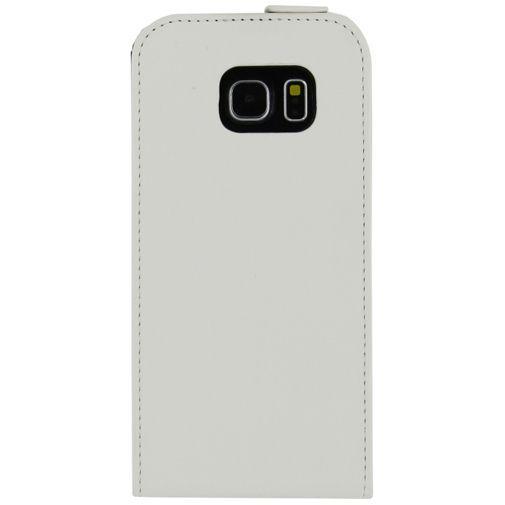 Productafbeelding van de Mobilize Ultra Slim Flip Case White Samsung Galaxy S6 Edge