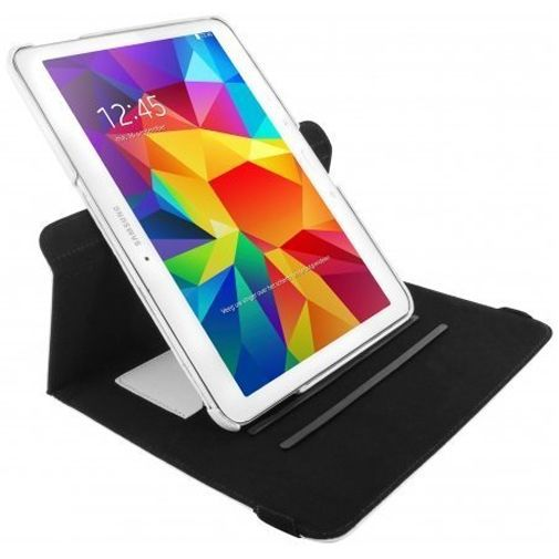 Productafbeelding van de Mobiparts 360 Rotary Stand Case White Samsung Galaxy Tab 4 10.1