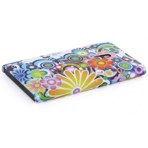 Productafbeelding van de Mobiparts Backcover Nokia Lumia 800 Colorful Flower