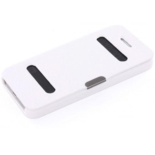 Productafbeelding van de Mobiparts Bookstyle Slide Case Apple iPhone 5 White