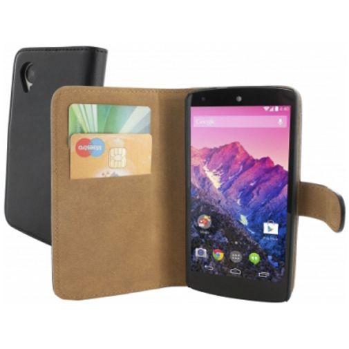 Productafbeelding van de Mobiparts Classic Wallet Case LG Google Nexus 5 Black