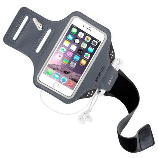 Produktimage des Mobiparts Comfort Fit Sport Armband Schwarz Apple iPhone 7/8/SE 2020