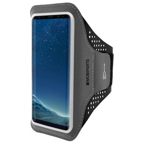 Produktimage des Mobiparts Comfort Fit Sport Armband Schwarz Samsung Galaxy S8