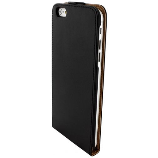Productafbeelding van de Mobiparts Essential Flip Case Black Apple iPhone 6 Plus/6S Plus