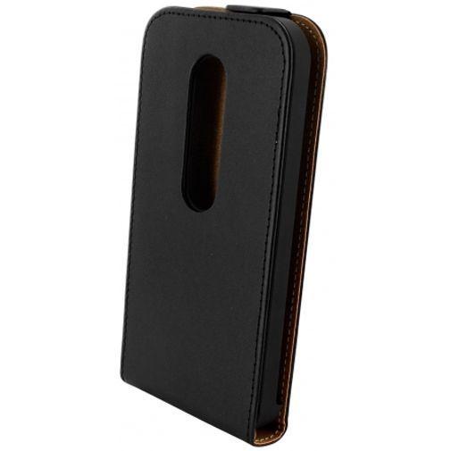Productafbeelding van de Mobiparts Essential Flip Case Black Motorola Moto G (3rd Gen)