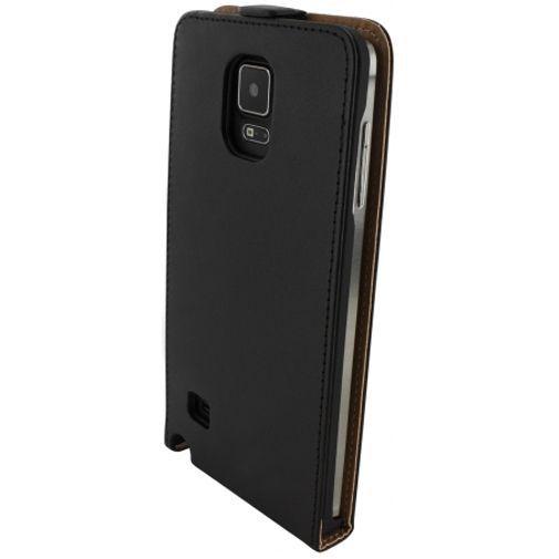 Productafbeelding van de Mobiparts Essential Flip Case Black Samsung Galaxy Note 4
