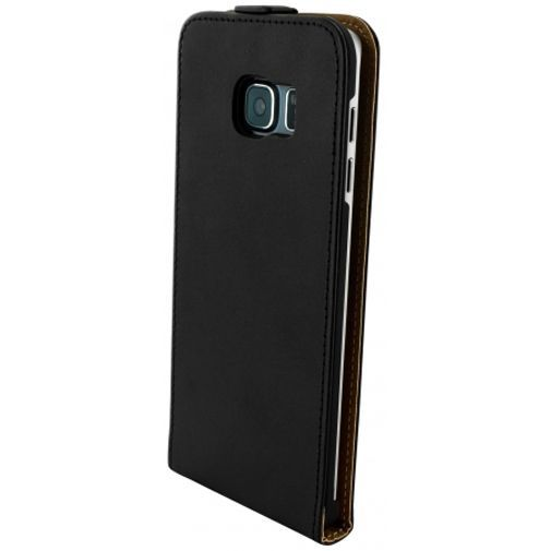 Productafbeelding van de Mobiparts Essential Flip Case Black Samsung Galaxy S6 Edge Plus