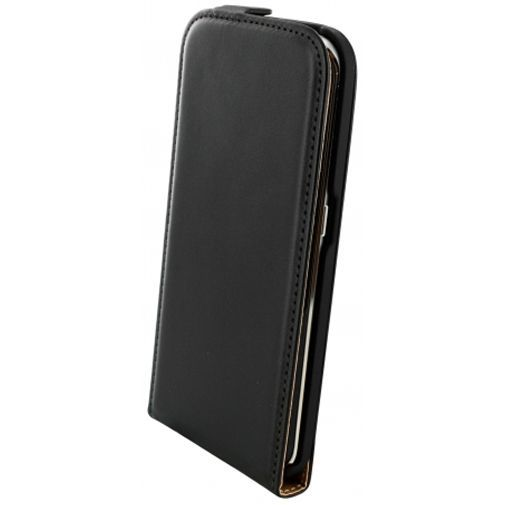Productafbeelding van de Mobiparts Essential Flip Case Black Samsung Galaxy S6 Edge