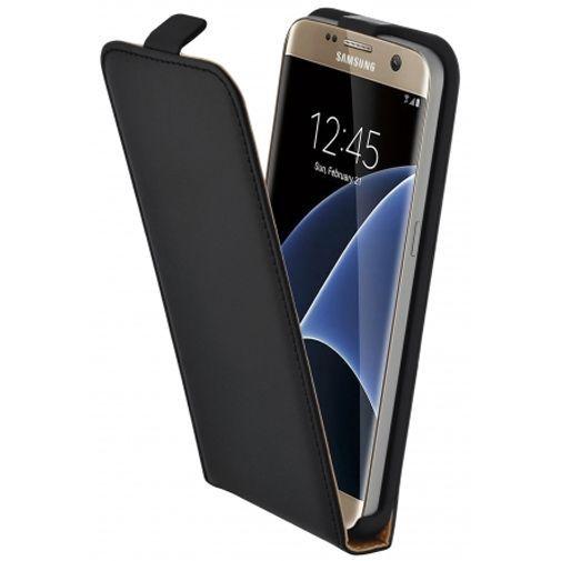 Productafbeelding van de Mobiparts Essential Flip Case Black Samsung Galaxy S7