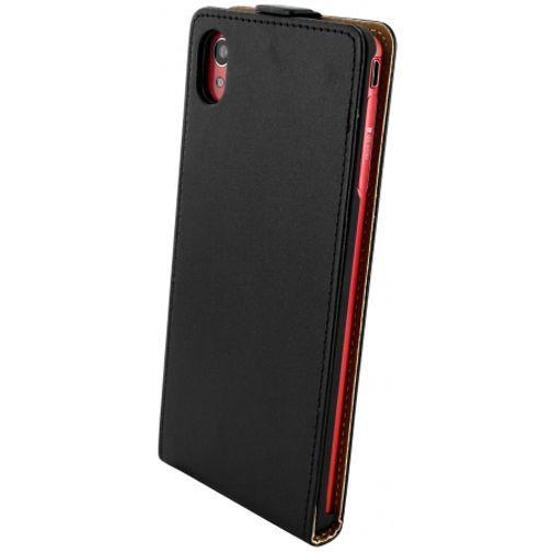 Productafbeelding van de Mobiparts Essential Flip Case Black Sony Xperia M4 Aqua