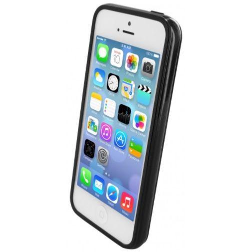 Produktimage des Mobiparts Essential TPU Hülle Schwarz Apple iPhone 5/5S/SE