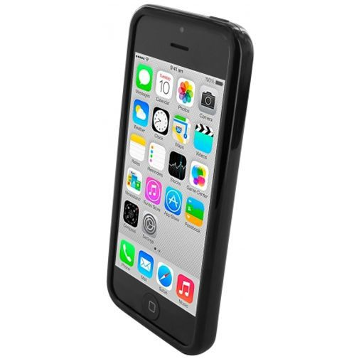 Productafbeelding van de Mobiparts Essential TPU Case Black Apple iPhone 5C